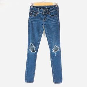 American Eagle Distressed Super Strech Skinny Jean